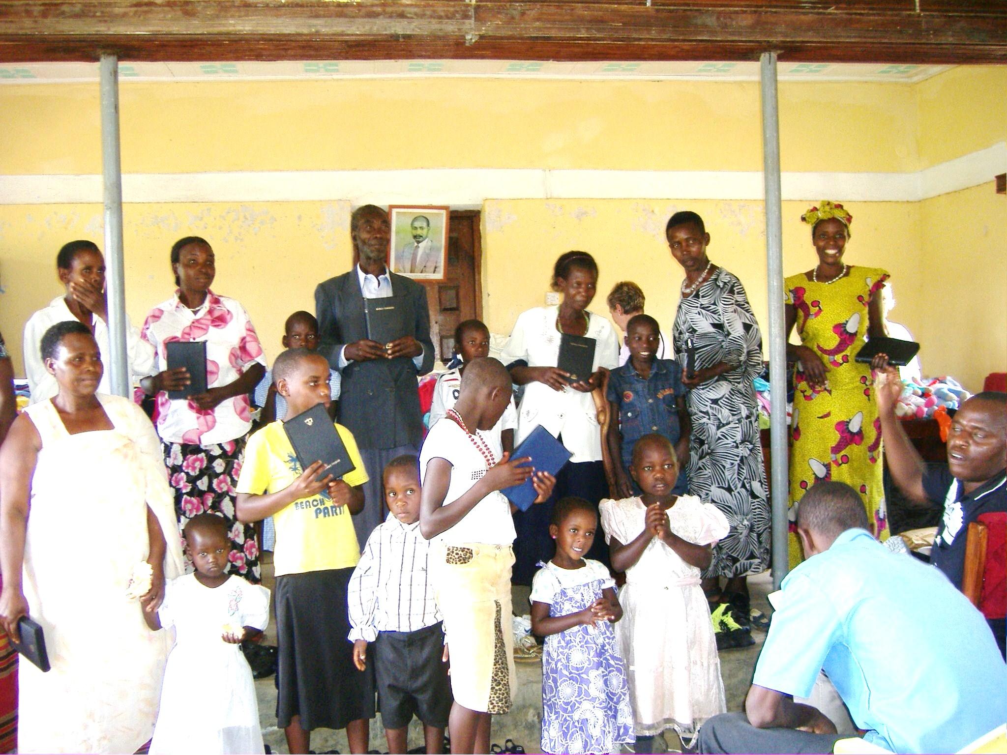 Guardians Receiving Bibles